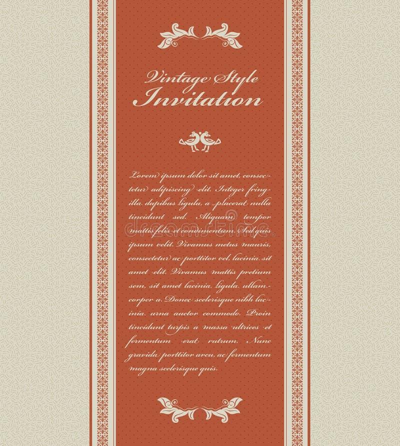 看板卡邀请葡萄酒 皇族释放例证