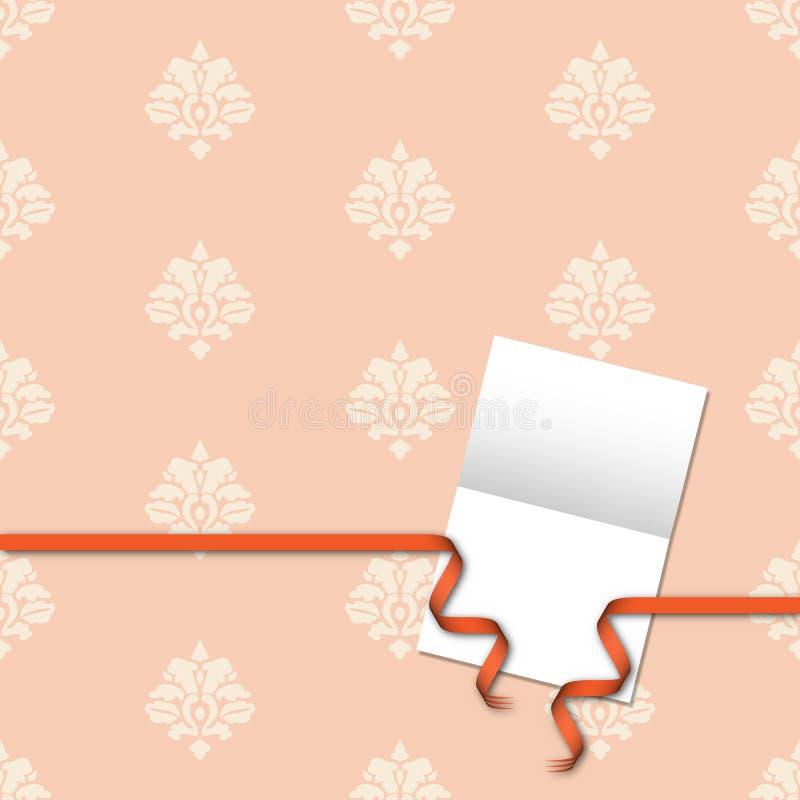看板卡锦缎礼品橙色模式丝带 库存例证