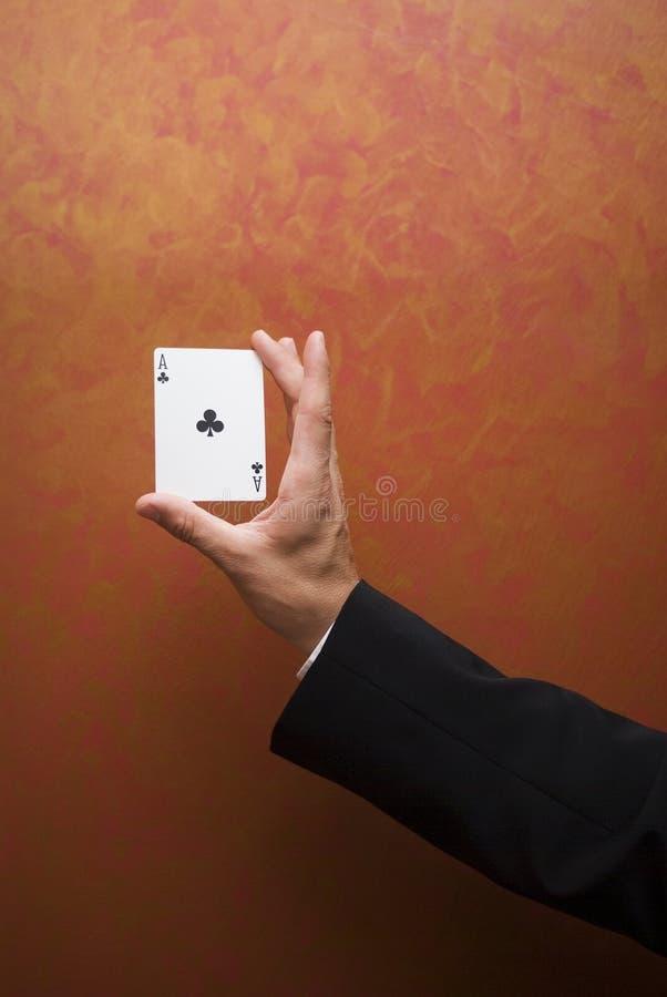 看板卡魔术技巧 免版税库存照片
