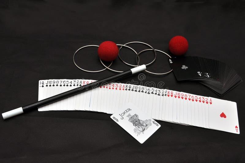 看板卡魔术集合窍门 免版税库存图片