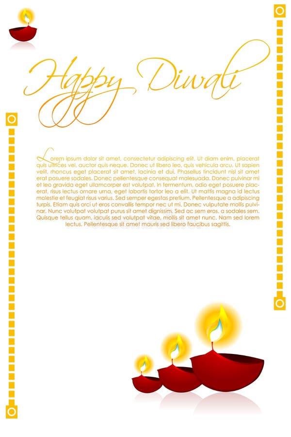 看板卡diwali 向量例证