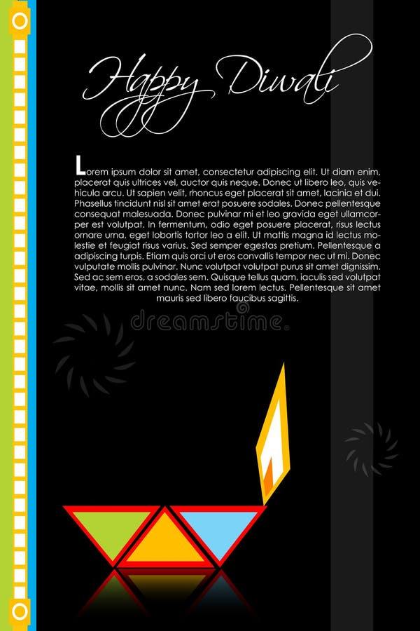 看板卡diwali 皇族释放例证