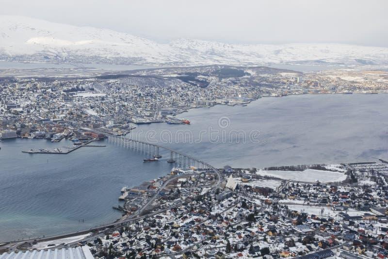 看法下来在特罗姆瑟,挪威 图库摄影