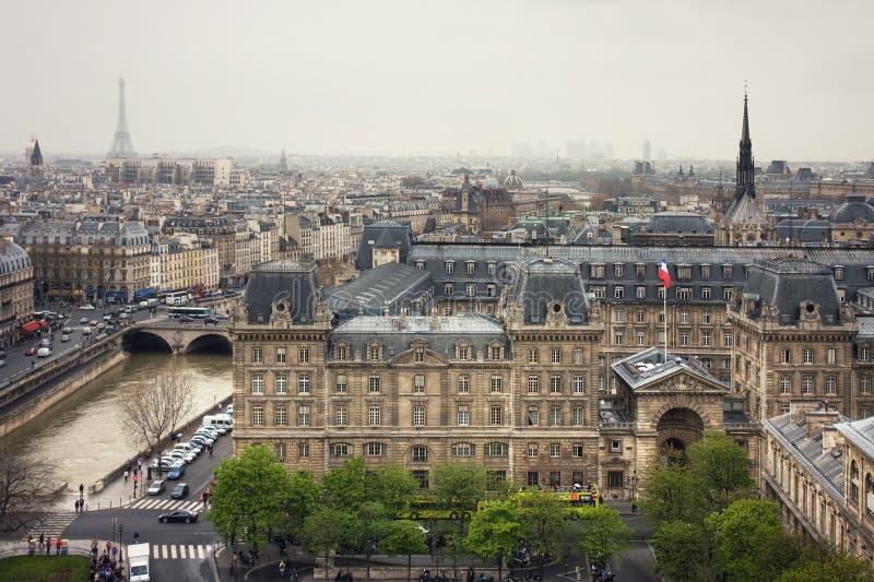 看法向专区de巴黎Police  库存照片