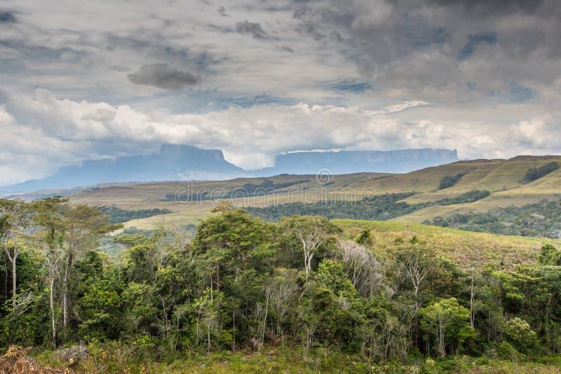 看法向罗赖马山-委内瑞拉,南美 图库摄影