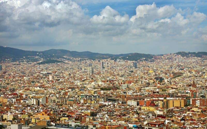 看法向巴塞罗那 免版税库存图片