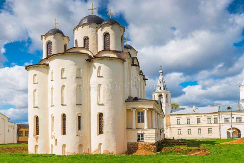 看法圣尼古拉斯大教堂在Veliky诺夫哥罗德 图库摄影