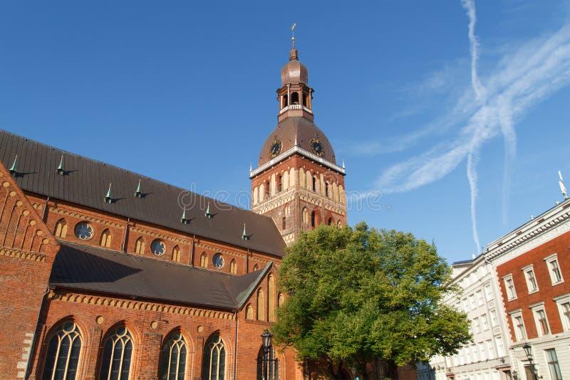 看法在里加,拉脱维亚 免版税库存图片