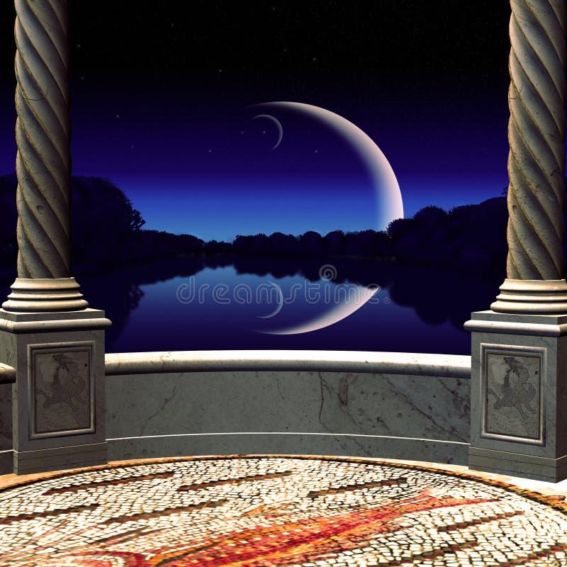 Download 看法在从阳台的夜 库存例证. 插画 包括有 房子, 10月, 样式, goth, 服装, 哥特式, 艺术 - 30331148