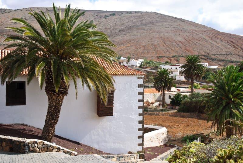 看法在Betancuria,费埃特文图拉岛 库存图片