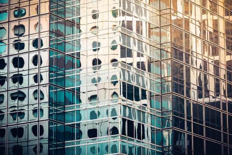 看法的现代商业大厦关闭 免版税库存照片
