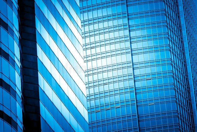 看法的现代商业大厦关闭 免版税库存图片