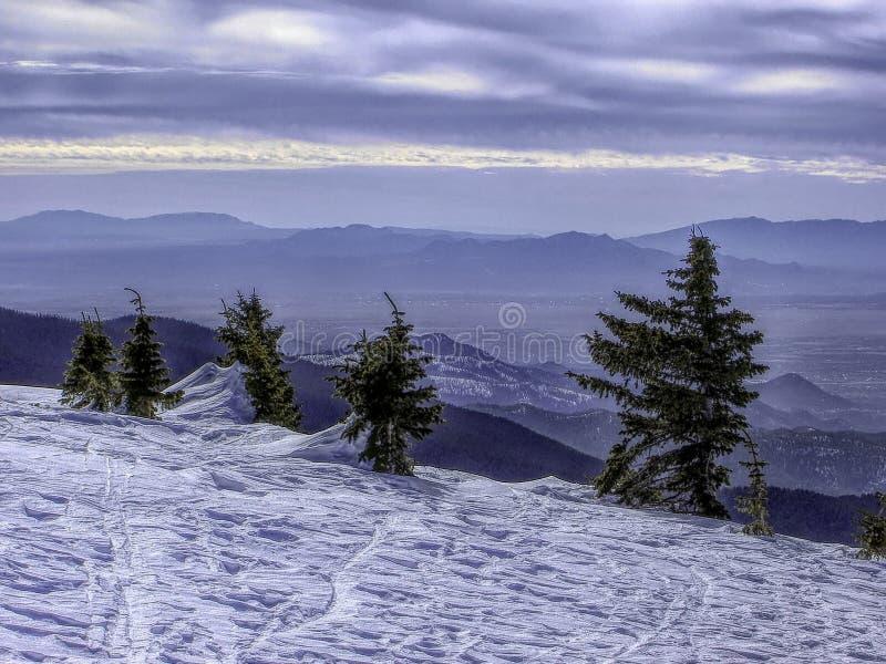 看法西北从滑雪圣菲对Jemez山 免版税库存图片