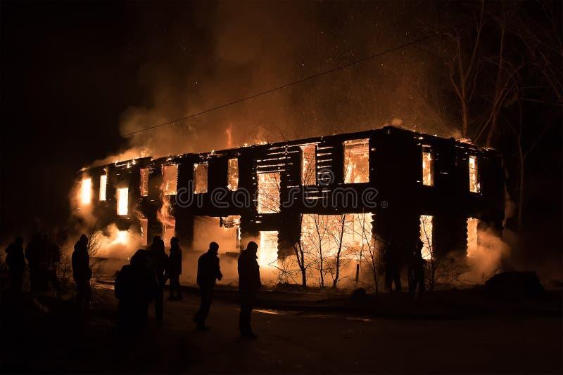 看火的人议院 大老 免版税库存图片