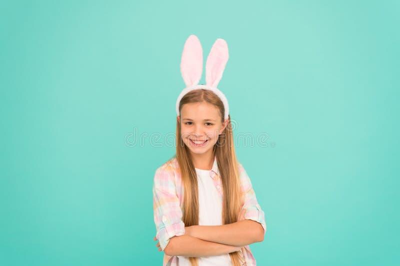 看种类滑稽 复活节兔子样式的小女孩孩子 复活节服装党的时装配件 查找 库存照片
