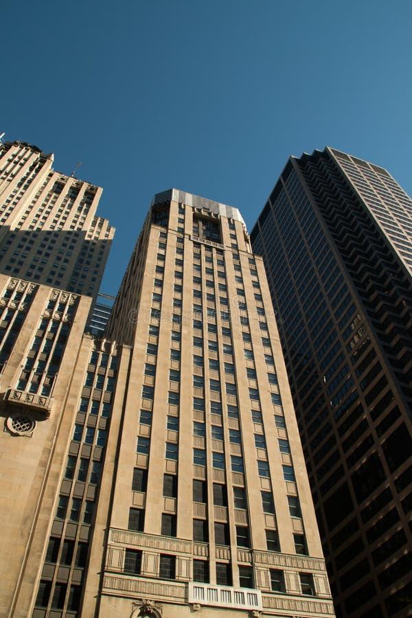 看街市芝加哥摩天大楼大厦 免版税图库摄影