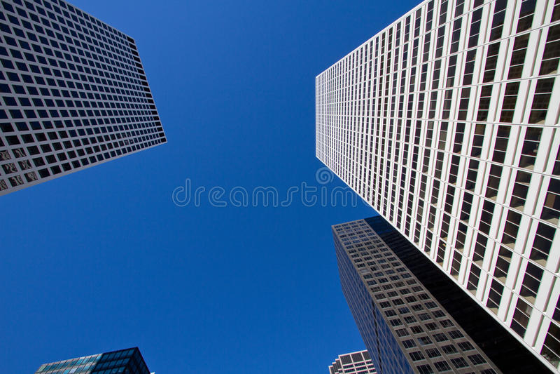 看街市芝加哥摩天大楼大厦 免版税库存图片