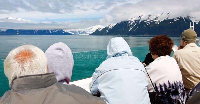 看见冰川的阿拉斯加巡航 免版税库存图片