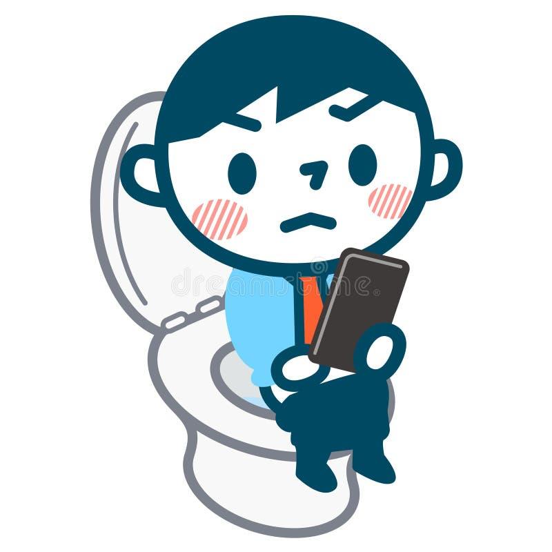 Download 看见在洗手间的手机的人 向量例证. 插画 包括有 痔疮, 简单, 聚会所, 壁橱, 腹泻, 日语, 例证 - 72367524