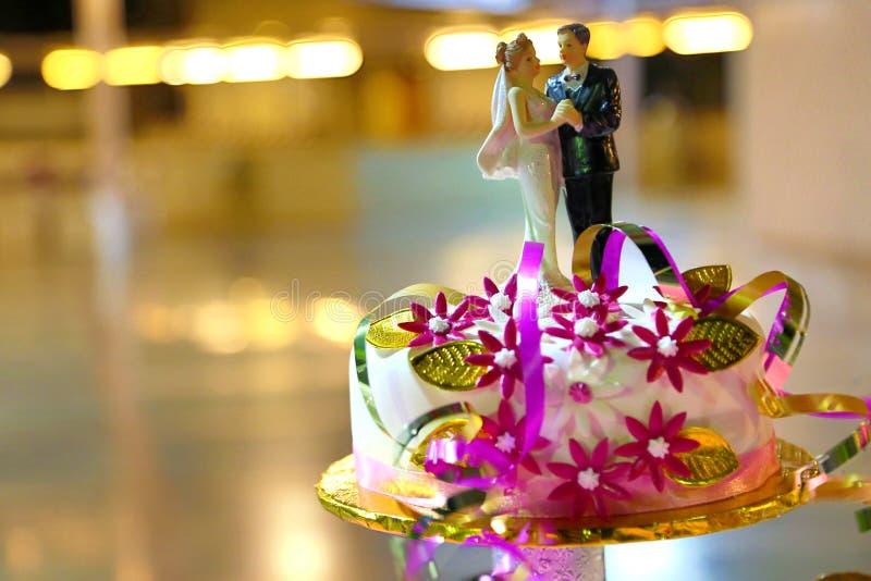 看见婚宴喜饼装饰员最佳的梦想蛋糕 库存照片
