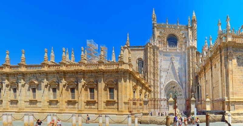 看见Catedral de圣玛丽亚de l的圣玛丽大教堂  免版税库存照片