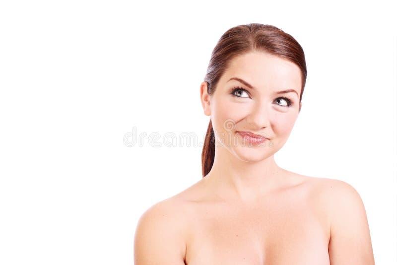 看起来副微笑对妇女 图库摄影
