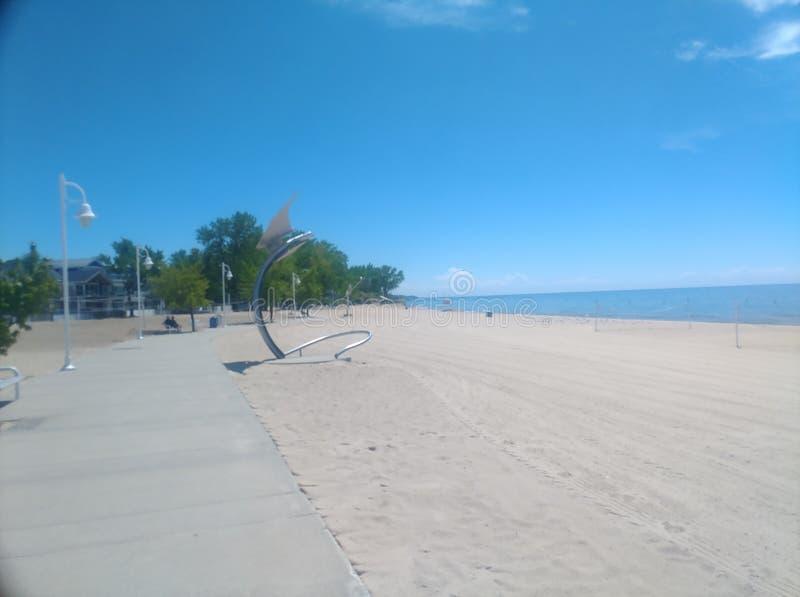 看起来南下来银色海滩 库存照片