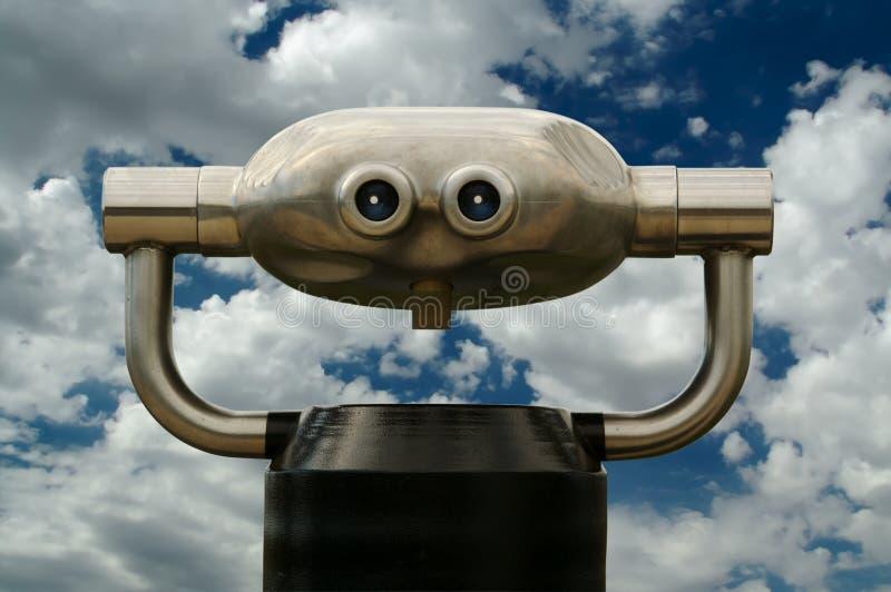 看起来现代公共telescop 免版税库存图片