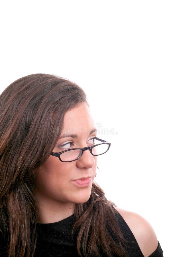 看起来的女孩左新 免版税库存图片