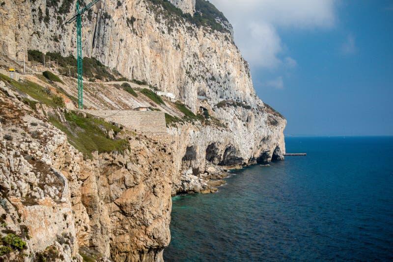 看起来直布罗陀的东海岸北部 免版税库存图片