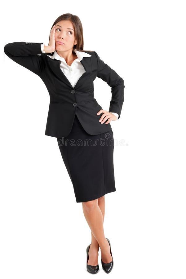看迷茫的女实业家  免版税库存照片
