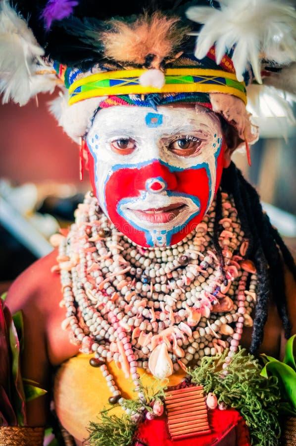 看颜色在巴布亚新几内亚 免版税库存图片