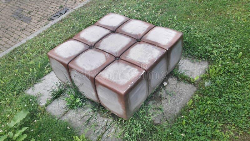 真实生活rubiks立方体 免版税图库摄影