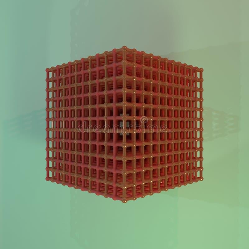 真正几何,分子样式concepture、被连结的球形图形设计的或墙纸的例证 3d?? 皇族释放例证