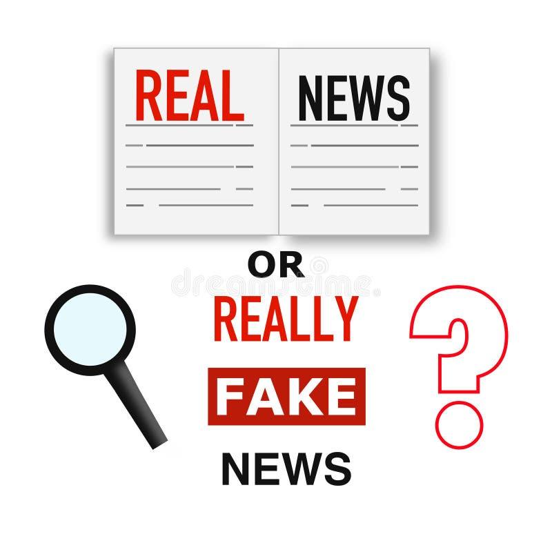 真正或假新闻,超级质量抽象企业海报 向量例证