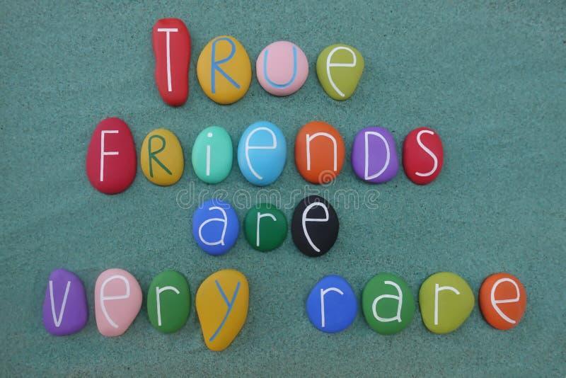 真正朋友是非常罕见的 库存例证