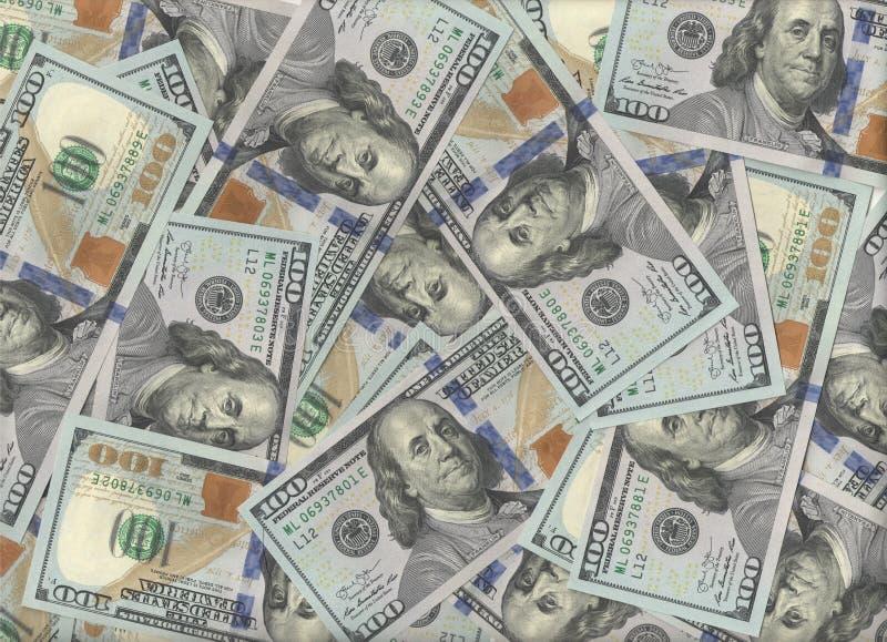 真正的一百美元钞票背景png 免版税库存照片