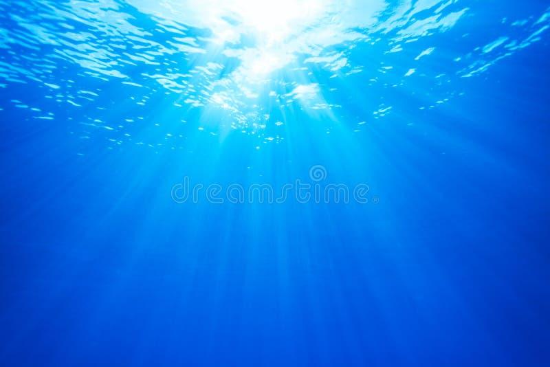 真正的光从水中的 免版税库存图片
