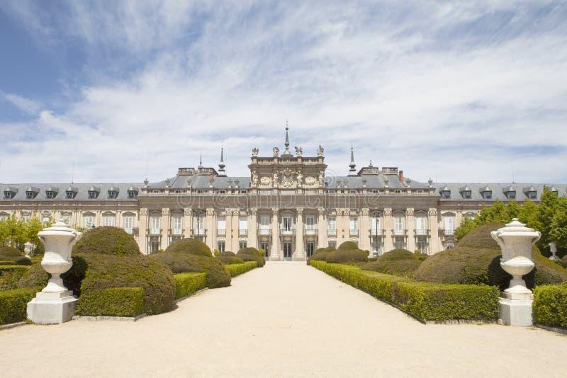 真正的宫殿-拉格兰哈de圣伊尔德丰索 免版税库存照片