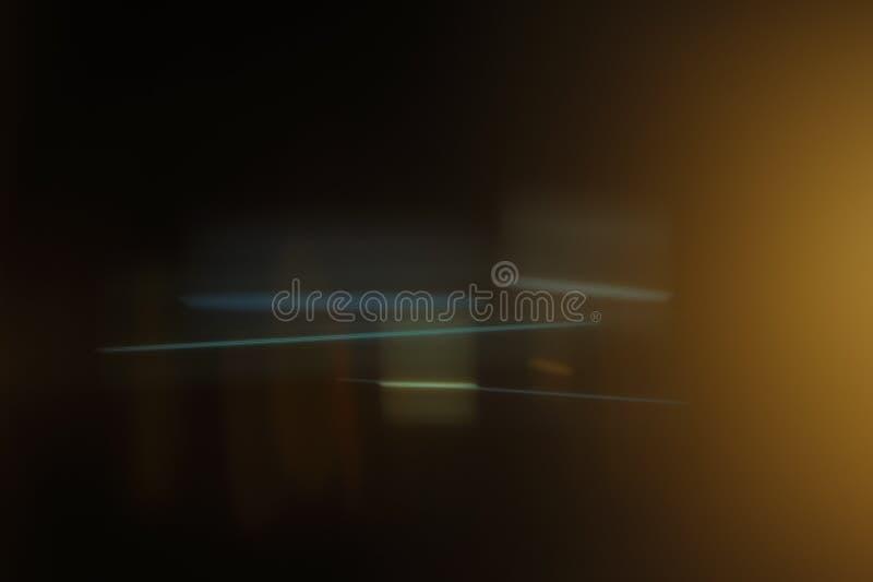 真正的歪象的透镜火光 免版税图库摄影