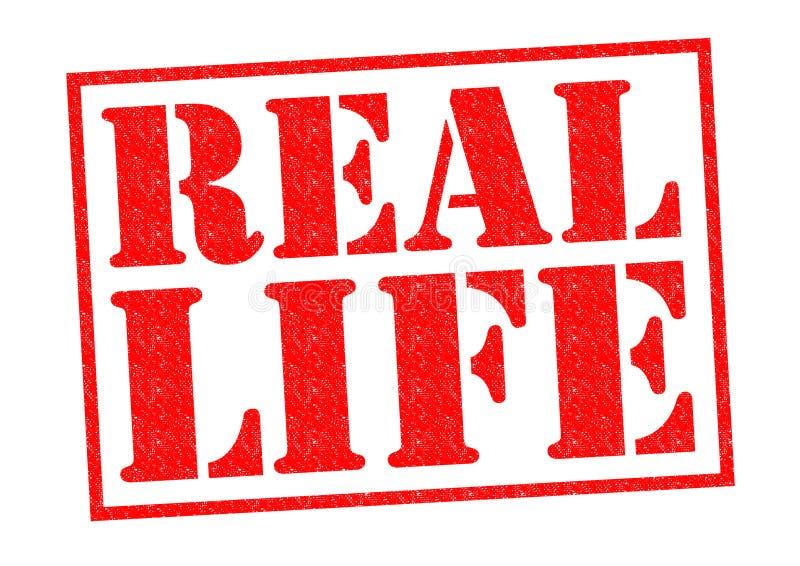 真正的生活 向量例证