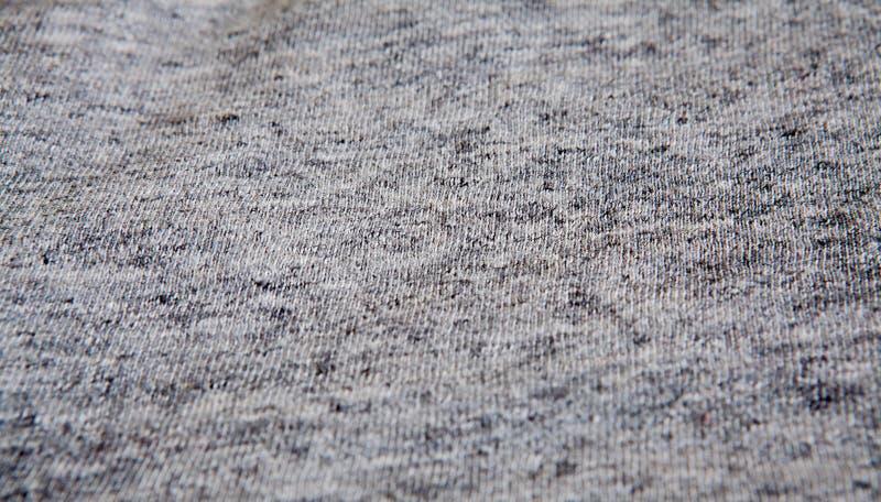 真正的石南花灰色编织了织品由合成纤维被构造的背景制成 库存图片