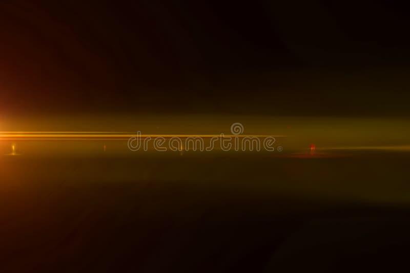 真正的轻的泄漏和透镜火光覆盖物,凉快的温暖的金色彩颜色 库存例证