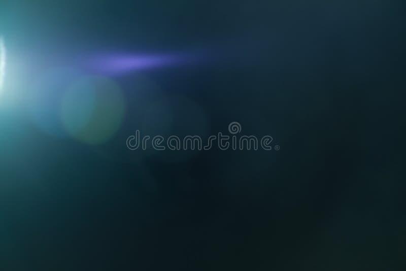 真正的透镜火光光线影响 光芒泄漏 免版税图库摄影