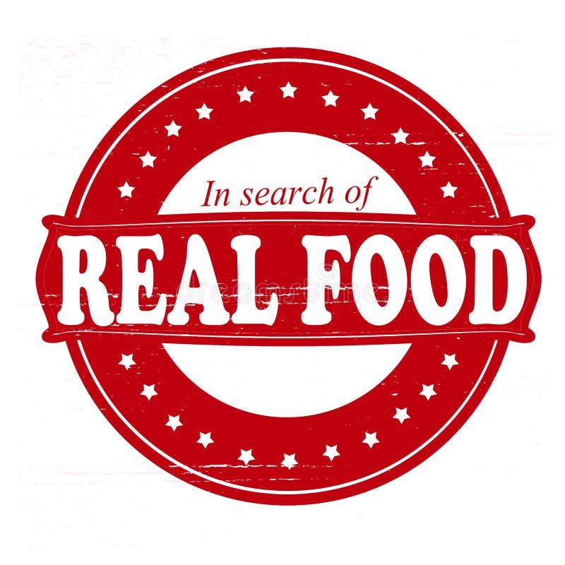 真正的食物 向量例证