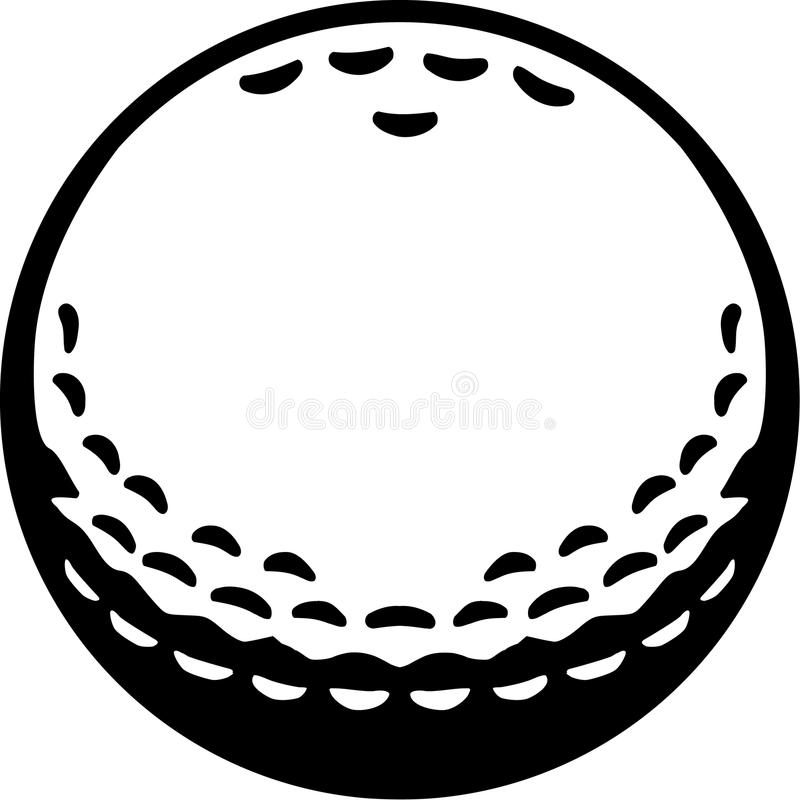 真正的高尔夫球 向量例证