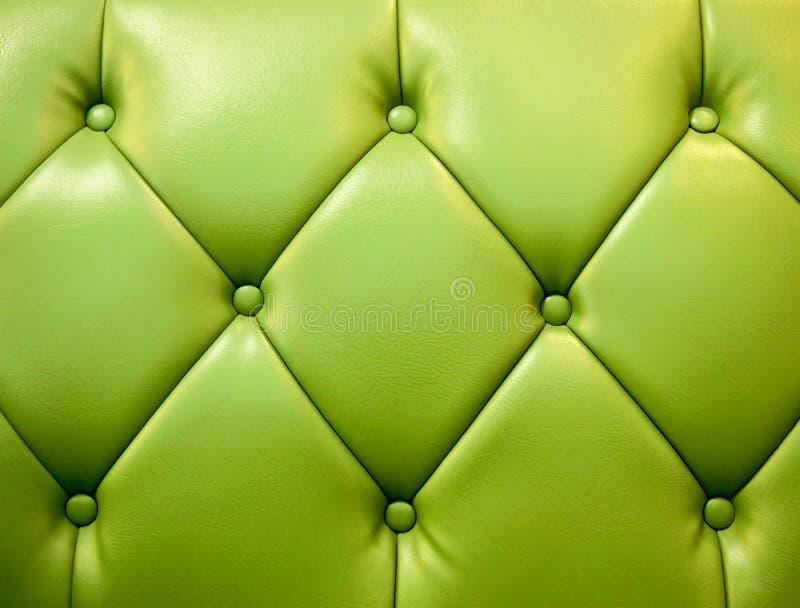 真正绿色皮革室内装潢 免版税库存图片