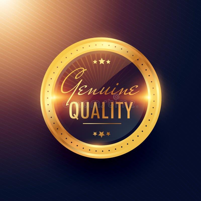 真正质量优质金标签和徽章设计 库存例证