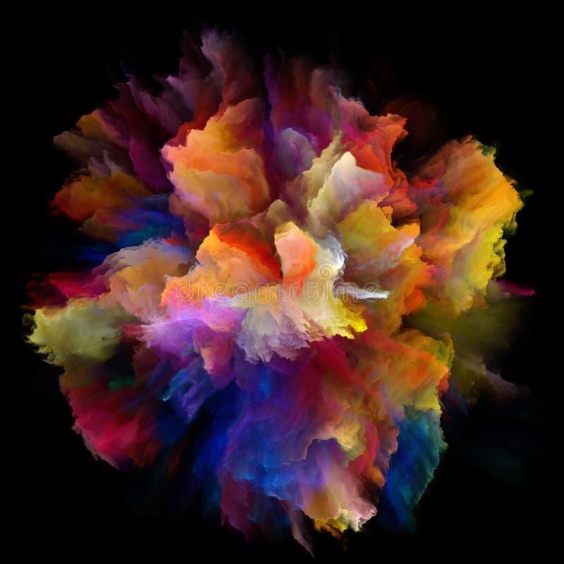 真正颜色飞溅爆炸 向量例证
