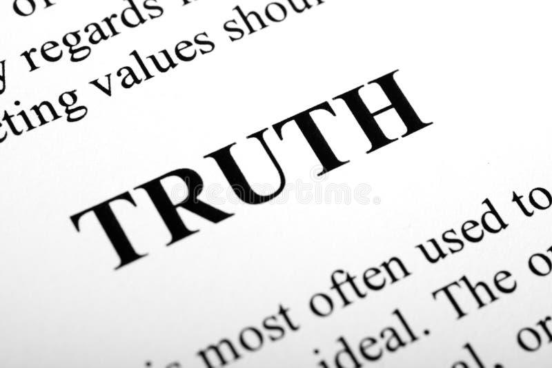 真相 免版税库存图片